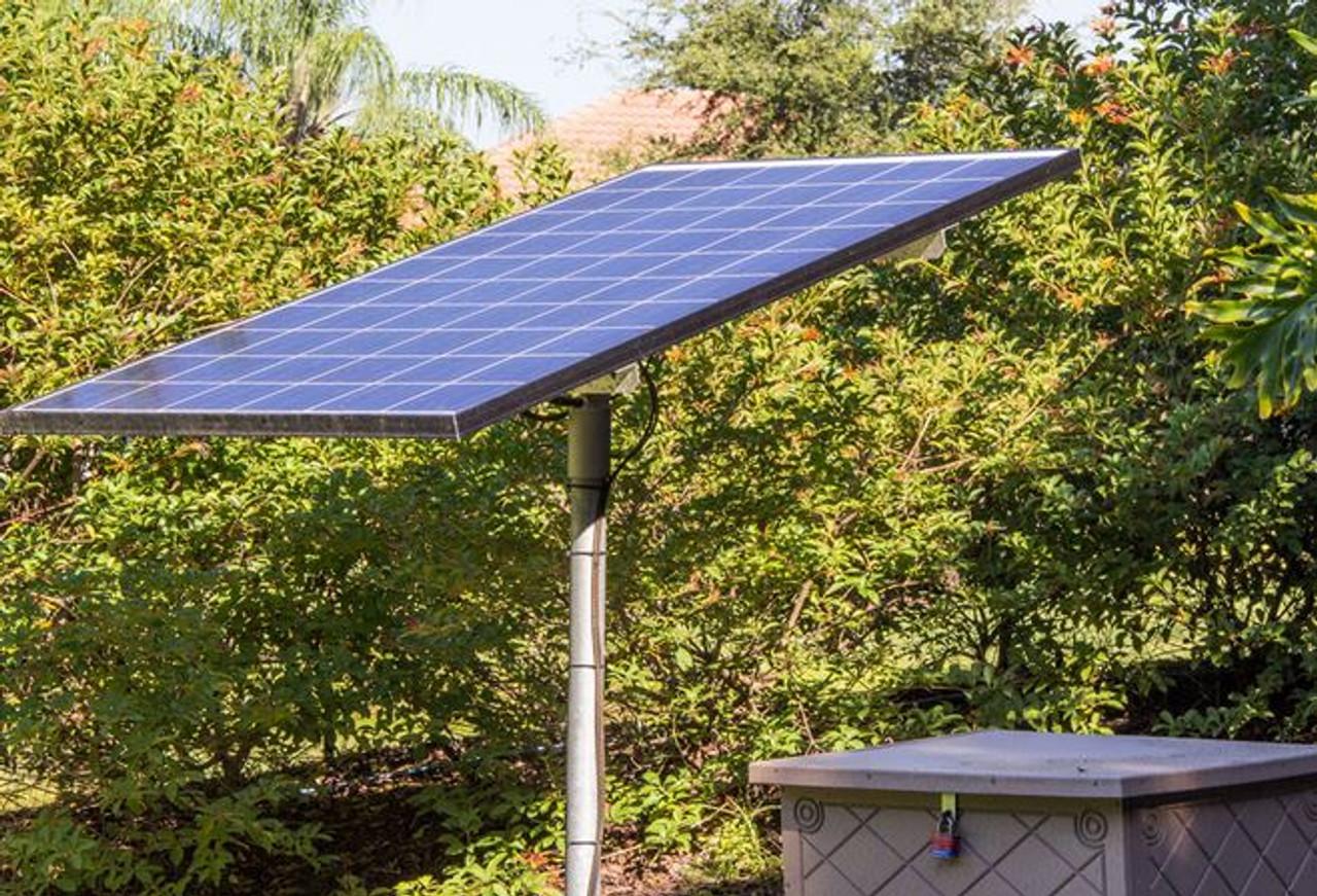 Keeton Solar Pond Aerator - Closeup of Solar Panels