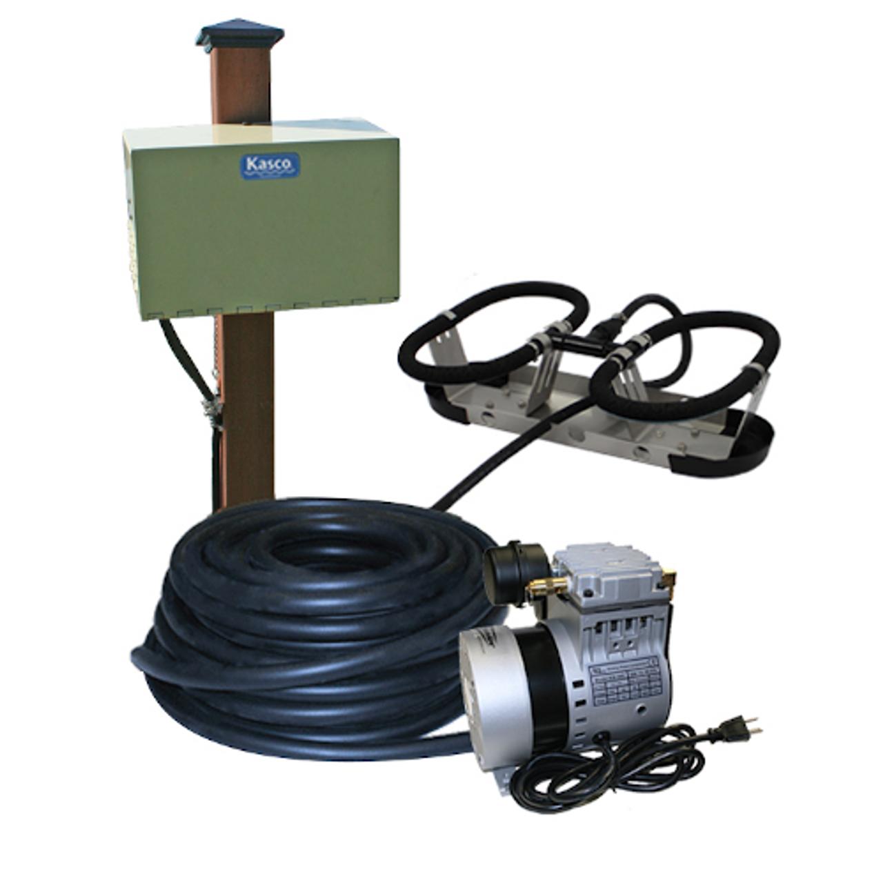 Kasco Robust Aire RA1 Post Mount Cabinet Pond Aeration System