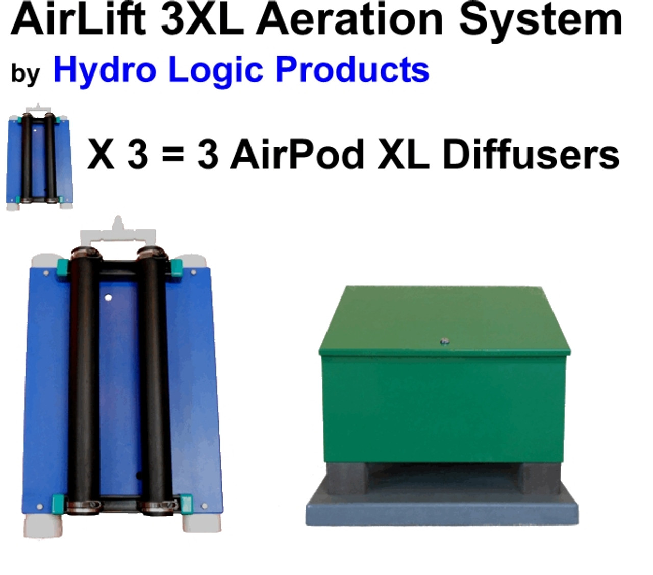 Lake Aerator and Lake Aeration System by Hydro Logic