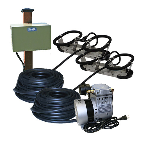 Kasco Robust Aire RA2 Post Mount Cabinet Pond Aeration System