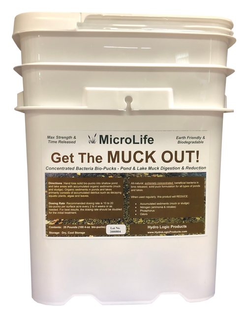 Benefical Pond Bacteria, Pond Bacteria, MicroLife Get the Muck Out! Pond Bacteria, and Best Pond Bacteria for Muck Digestion and Muck Reduction