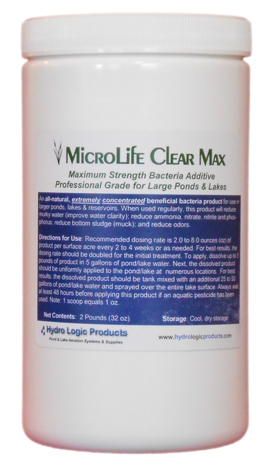 Beneficial pond bacteria, beneficial lake bacteria, best pond bacteria, MicroLife Clear Max pond bacteria, and MicroLife Clear Max lake bacteria