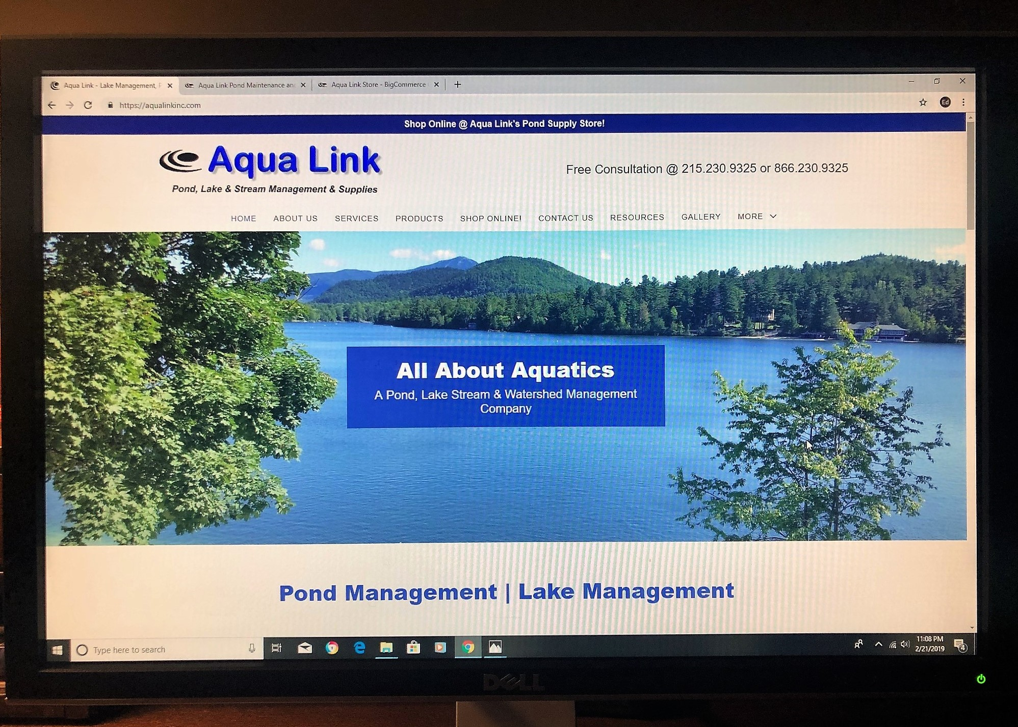 Aqua Link Pond Maintenance and Lake Management Launches New Website for 2019!