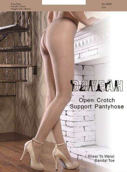 Doyeah Open Crotch Support Pantyhose