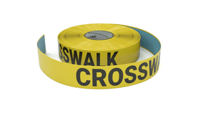 Crosswalk Slow Proceed With Caution - Inline Printed Floor Marking Tape