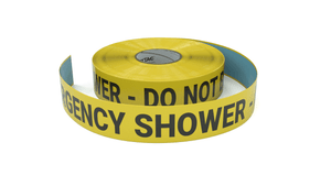 Emergency Shower - Do Not Block - Inline Printed Floor Marking Tape