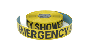 Emergency Shower - Inline Printed Floor Marking Tape