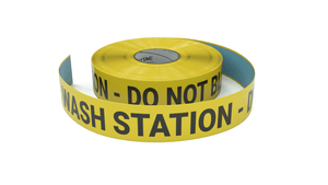 Eye Wash Station - Do No Block - Inline Printed Floor Marking Tape