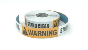 Warning: Stand Clear - Inline Printed Floor Marking Tape