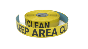 Keep Area Clean - Inline Printed Floor Marking Tape