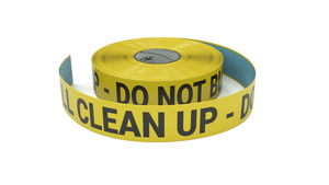Spill Clean Up - Do No Block - Inline Printed Floor Marking Tape