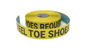 Steel Toe Shoes Required - Inline Printed Floor Marking Tape