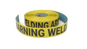Warning Welding Area - Inline Printed Floor Marking Tape