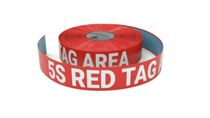 5S Red Tag Area - Inline Printed Floor Marking Tape