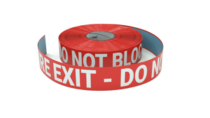 Fire Exit - Do Not Block - Inline Printed Floor Marking Tape