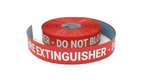 Fire Extinguisher - Do Not Block - Inline Printed Floor Marking Tape