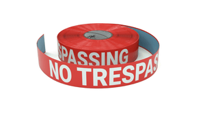 No Trespassing - Inline Printed Floor Marking Tape