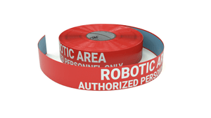 Robotic Area - Authorized Personnel Only - Inline Printed Floor Marking Tape