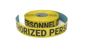 Authorized Personnel Only - Inline Printed Floor Marking Tape