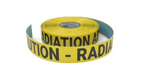 Caution - Radiation Area - Inline Printed Floor Marking Tape