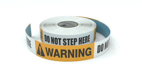 Warning: Do Not Step Here - Inline Printed Floor Marking Tape