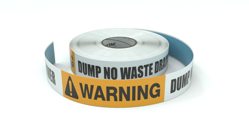 Warning: Dump No Waste Drains to River - Inline Printed Floor Marking Tape