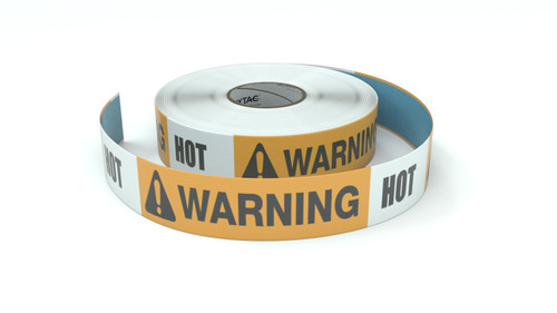 Warning: Hot - Inline Printed Floor Marking Tape
