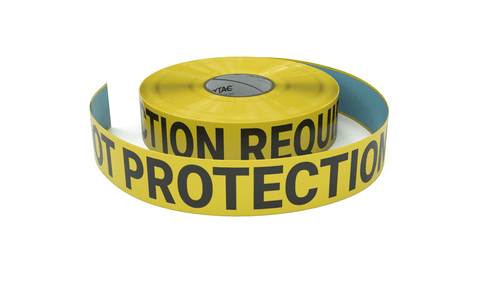 Foot Protection Required - Inline Printed Floor Marking Tape