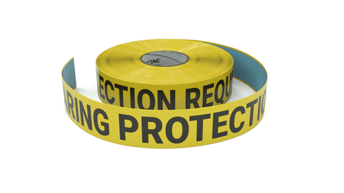 Hearing Protection Required - Inline Printed Floor Marking Tape