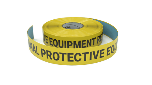 Personal Protective Equipment Required - Inline Printed Floor Marking Tape