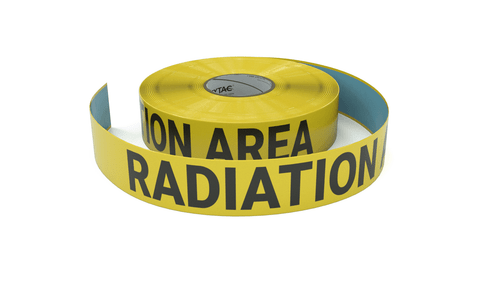 Radiation Area - Inline Printed Floor Marking Tape