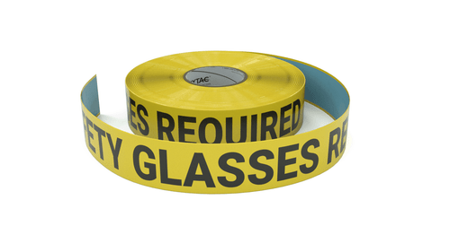 Safety Glasses Required - Inline Printed Floor Marking Tape
