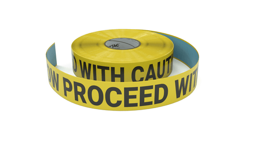 Slow Proceed With Caution - Inline Printed Floor Marking Tape