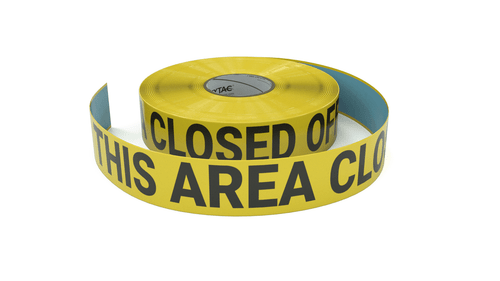 This Area Closed Off - Inline Printed Floor Marking Tape