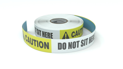 Caution: Do Not Sit Here - Inline Printed Floor Marking Tape