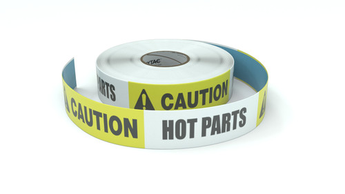 Caution: Hot Parts - Inline Printed Floor Marking Tape