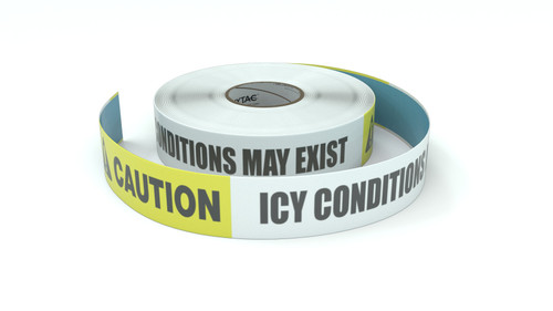 Caution: Icy Conditions May Exist - Inline Printed Floor Marking Tape