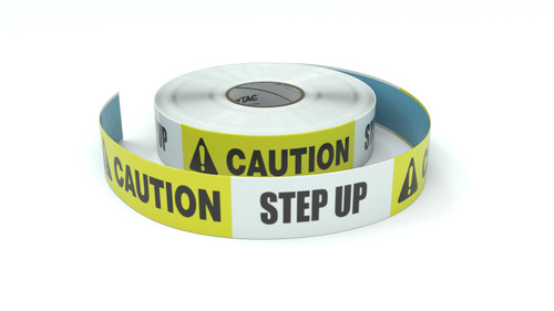 Caution: Step Up - Inline Printed Floor Marking Tape