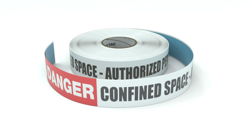 Danger: Confined Space - Authorized Personel Only - Inline Printed Floor Marking Tape