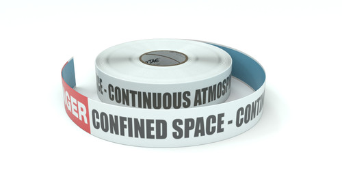 Danger: Confined Space - Continuous Atmospheric Monitoring - Inline Printed Floor Marking Tape