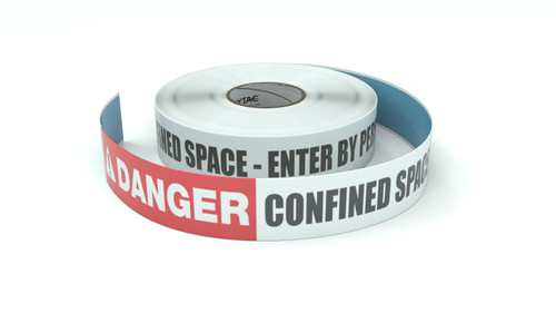 Danger: Confined Space - Enter By Permit Only - Inline Printed Floor Marking Tape