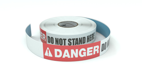 Danger: Do Not Stand Here - Inline Printed Floor Marking Tape