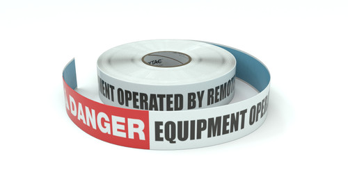 Danger: Equipment Operated By Remote Control - Inline Printed Floor Marking Tape