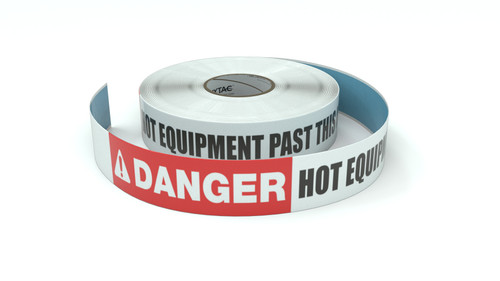Danger: Hot Equipment Past This Line - Inline Printed Floor Marking Tape