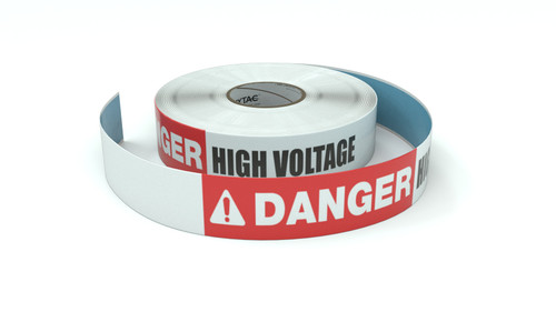 Danger: High Voltage - Inline Printed Floor Marking Tape