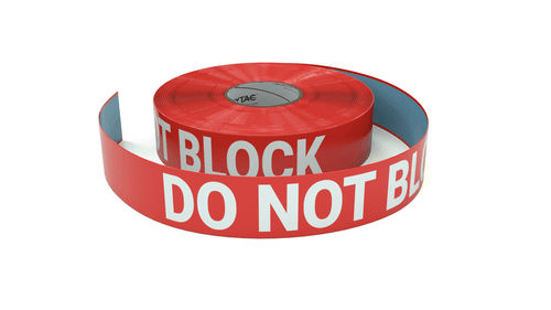 Do Not Block - Inline Printed Floor Marking Tape