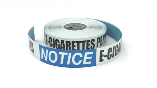 Notice: E-Cigarettes Permitted In This Area - Inline Printed Floor Marking Tape