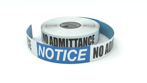 Notice: No Admittance - Employees Only - Inline Printed Floor Marking Tape