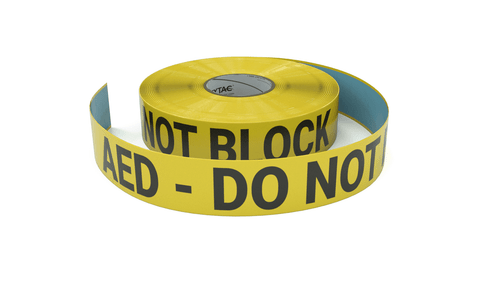 AED - Do Not Block - Inline Printed Floor Marking Tape