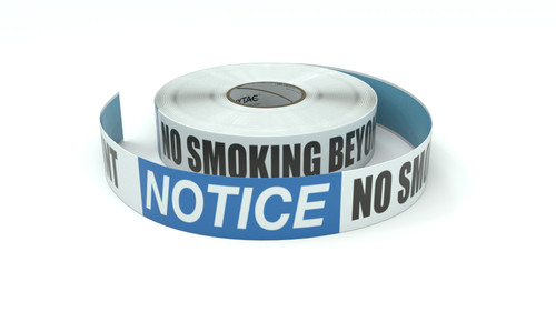 Notice: No Smoking Beyond This Point - Inline Printed Floor Marking Tape